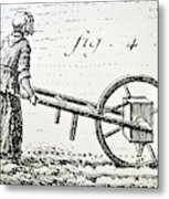 Abbe Soumille's Seed Drill Metal Print