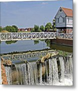 Abbey Mill And Weir Metal Print