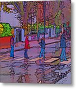 Abbey Road Crossing Metal Print
