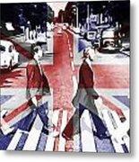 Abbey Road Union Jack Metal Print
