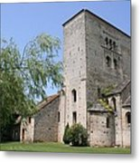 Abbey Ruin - Burgundy Metal Print