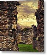 Abbey Ruins Metal Print