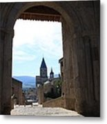 Abbey Through Doorway - Cluny Metal Print