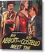 Abbott And Costello Meet The Invisible Man  Metal Print