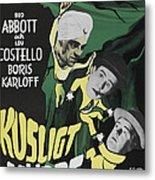 Abbott And Costello Meet The Killer Metal Print