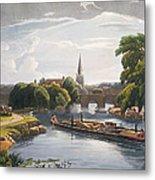 Abingdon Bridge And Church, Engraved Metal Print
