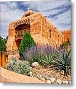 Abiquiu Mission Church Metal Print