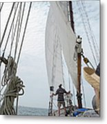 Aboard The Tyrone Opsail 2012  Metal Print