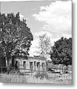Abondoned Horse Stable Metal Print