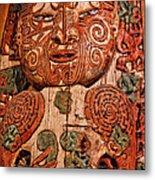 Aborigine Carved Figure Metal Print