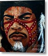Aborigine Hunter Metal Print