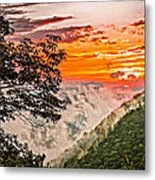 Above The Clouds - Paint Metal Print