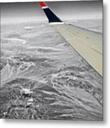 Above The Clouds Wing Tip View Sc Metal Print