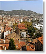 Above The Roofs Of Cannes Metal Print