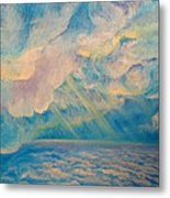 Above The Sun Splashed Clouds Metal Print