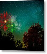 Above The Trees Below The Stars Celebration  Metal Print