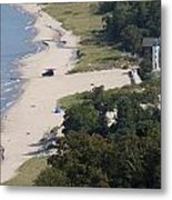 Above View Of Empires Beach Metal Print