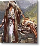 Abraham And Isaac Metal Print by Harold Copping