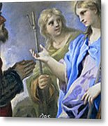 Abraham And The Three Angels Metal Print