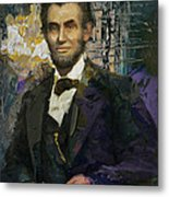 Abraham Lincoln 07 Metal Print by Corporate Art Task Force