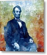 Abraham Lincoln 16th President Of The U.s.a. Metal Print