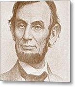 Abraham Lincoln Metal Print by American School