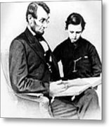 Abraham Lincoln And Tad Metal Print