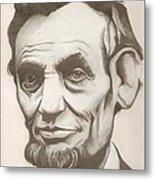 Abraham Lincoln Drawing Metal Print
