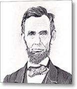 Abraham Lincoln Metal Print by Lou Knapp