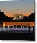 Abraham  Lincoln Memorial Sunset Metal Print