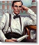 Abraham Lincoln Of Springfield Bicentennial Portrait Metal Print by Jane Bucci
