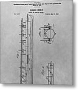Abraham Lincoln Patent Drawing Metal Print