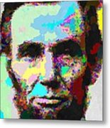 Abraham Lincoln Portrait - Abstract Metal Print