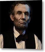 Abraham Lincoln Portrait Metal Print by Ray Downing