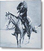 Abraham Lincoln Riding His Judicial Circuit Metal Print
