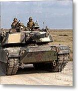 Abrams M1a1 Main Battle Tank Metal Print