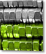 Absolutely Nuts Lime Green Wall Art I Metal Print by Natalie Kinnear