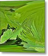 Abstract - Rectangle - Linear Verte Metal Print