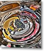 Abstract - Vehicle Recycling Metal Print