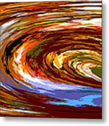 Abstract #140814 - Inside The Pipeline Metal Print