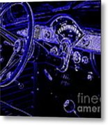 Abstract 1955 Chevy Bel Air  Metal Print