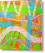 Abstract  23614   Diptych  I  Metal Print