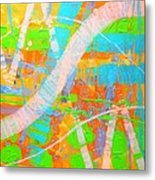 Abstract 23614  Diptych  II Metal Print
