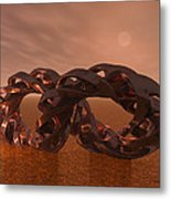Abstract 331 A 3d Copper Sculpture Metal Print