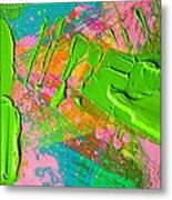 Abstract 6814 Diptych Cropped Xvi  Metal Print