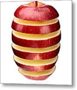 Abstract Apple Slices Metal Print