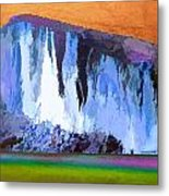 Abstract Arizona Mountains At Icy Dawn Metal Print