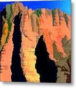 Abstract Arizona Mountains At Sunset Metal Print
