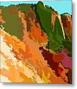 Abstract Arizona Mountains In The Afternoon  Metal Print