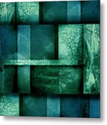 abstract art Blue Dream Metal Print by Ann Powell